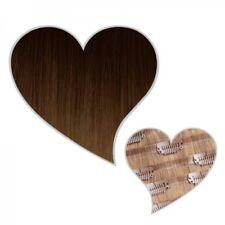 Extension Clip Cheveux véritables SANS COUTURE ombré Brun Chocolat / Blond Foncé