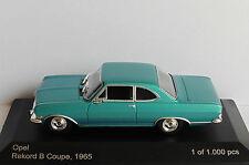 OPEL REKORD B COUPE GREEN 1965 WHITEBOX WB099 1/43 GRUN VERT VERDE VERTE LHD