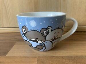 NICI Weihnachtsbecher Kaffeepott Teetasse Tasse Winter Schnee Bären Kuscheln