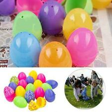 12Pcs Plastic Easter Eggs Empty Easter Hunt Egg Assorted Colours Kids Mini Toys