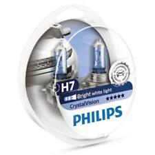 PHILIPS H7 Crystal Vision 4300K Bulbs 12972CVSM with Parking Lights - Genuine