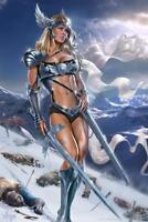 Valkyrie Warrior Woman Tom Wood Fantasy Art Mural - Poster 36x54 inch