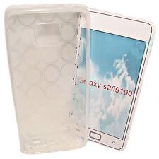 Silikon TPU Handy Hülle Foggy für Samsung Galaxy S2 i9100 + Displayschutzfolie