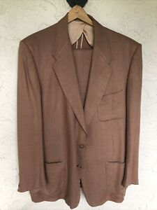 1940's Rare Men's Copper Linen Suit Size 42