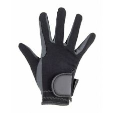 Hkm Prince Reinforced Riding Gloves - Black and Gray