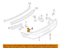 FORD OEM 05-09 Mustang REAR BUMPER-Reinforcement Bracket Left 5R3Z17D995AB