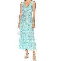 RIXO London Carrie linen and silk maxi dress