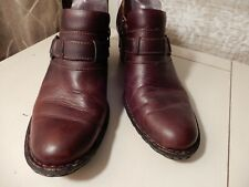NEW (Other) Born Weathered Brown Leather Half Boots.  Size 9/40.5.  Heel measure