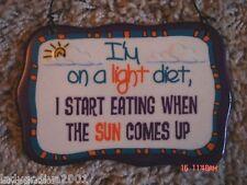 I'm On A Light Diet, I Start Eating When The Sun Comes Up - novelty sign-Ganz