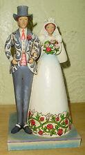 "Jim Shore Heartland Creek ""I Do"" Bride & Groom Figurine 2006 10"" Tall"