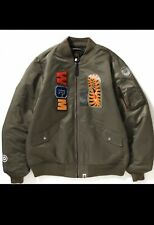 A Bathing Ape Bape Shark Ma-11 Bomber Jacket Jacke L