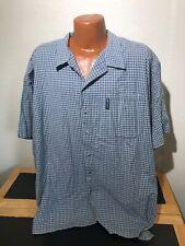 Mens Columbia Hiking Fishing S/S Button Front Shirt Size 2XL (XXL) Squares