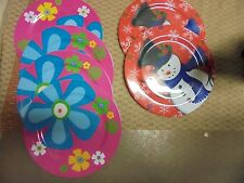 6 Assorted Christmas and Easter Plastic Plates