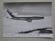 PHOTO PRESSE ARTIST'S CONCEPT LOCKHEED L-1011-500 TRISTAR AIRLINER
