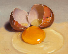 -Cracked Egg- painting by Abbey Ryan