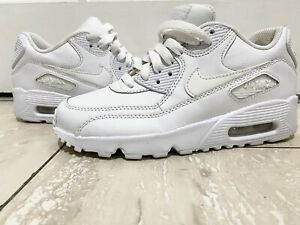 Nike Air Max 90 Leather Platinum Womens White Trainers Size UK 3.5 Bundle