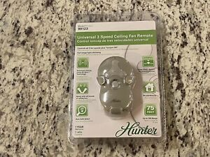 Hunter 99123 Universal 3 Speed Ceiling Fan Remote with Light Dimmer Control NEW