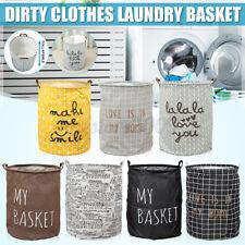 Foldable Dirty Clothes Bucket Storage Bag Box Laundry Hamper Basket Wash Bin