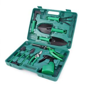 10Pcs Gardening Tools Set Gift Ergonomic Non-Slip Garden Hand Planting Tool