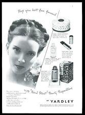 1942 Yardley Bond Street perfume lipstick powder complexion milk photo print ad