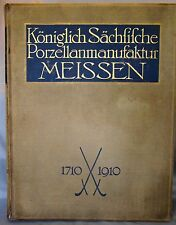 K. Berling. Koniglich Sachfifche Porzellanmanufaktur Meissen 1710-1910. Plates