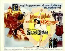SNOW WHITE AND THE THREE STOOGES Movie POSTER 22x28 Half Sheet Moe Howard Larry