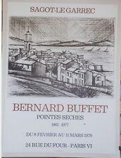 """""""Bernard BUFFET: EXPO POINTES SECHES 1978"""" Affiche originale entoilée"""