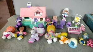 Lot of vintage Fisher Price Smooshees Smugglers, Cuddlers, and accessories