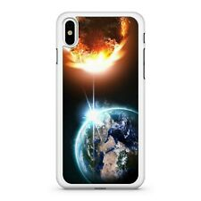 Fiery Asteroid Shooting Into Planet Earth Outer Space View Phone Case Cover