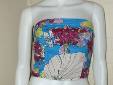 NEW KIMCHI BLUE URBAN OUTFITTERS FLORAL FLOWER BOHO VINTAGE TUBE TOP MEDIUM M