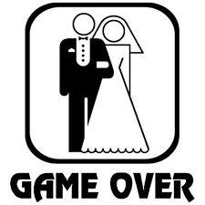 WEDDING JOKE GAME OVER IRON ON T SHIRT TRANSFER