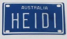 HEIDI NOVELTY NAME MINI TIN AUSTRALIAN LICENSE NUMBER PLATE