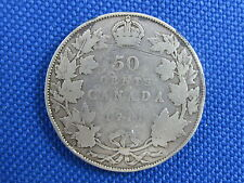 1911 CANADA KING GEORGE V 50 CENT SILVER COIN