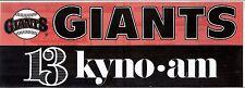 San Francisco Giants KYNO 1300 AM Fresno Bumper Sticker