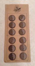 12 VINTAGE BAKELITE PHENOLIC PLASTIC ART DECO COAT DRESS BUTTONS GOLD BELGIAN