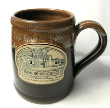 NEW Deneen Pottery Rancho Del Cielo Ronald Reagan Coffee Mug Handmade Brown