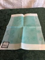 NEW GARNIER THIEBAUT PLACEMAT turquoise white stain-resistant