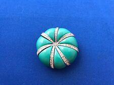 Vintage Kenneth Jay Lane Faux Turquoise Starfish/ Sea urchin Pin