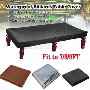 7/8/9FT Waterproof Outdoor Snooker Billiard Table Cover Polyester Nylon Dust U