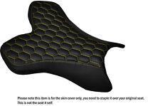 Hexagonal Amarillo Stitch Custom Fits Yamaha 1000 Yzf R1 04-06 Frontal De Cuero Funda De Asiento