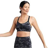 All in Motion Women's High Support Zip-Front Bra - (Black/Gray, 36C)