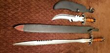 Jim Frost Cutlery Dragon and Lion's Head Long Sword and Bowie Knife/ Dagger pair
