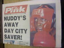 17/10/1992 COVENTRY evening Telegraph il rosa: principali titolo recita: NUDO'S AWA