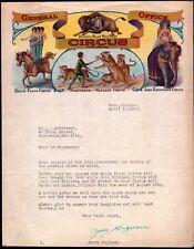 Buffalo Bill's Wild West Circus Peru In  Hagenbeck Wallace 1928 RARE Letter Head