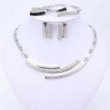 Fashion Wedding Necklace Earrings Bracelet Ring African Jewelry Sets For Women