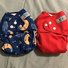 New Listingalva baby cloth diapers Moon Red One Size Diaper Adjustable Good Used