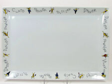 "Pottery Barn REINDEER 17""x12"" Rectangular Serving Platter White Mint Christmas"