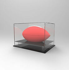 Gridiron/NFL Football Deluxe Display Case - Competition/Autographed Ball - BLACK