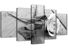 5 Pezzi Nero Bianco Rosa Floreale UFFICIO DECORAZIONI IN TELA - 5372 - 160 cm