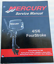 Mercury Mariner Service Shop Repair Manual 4 5 6 Hp 4 Stroke 90-857138R02